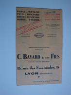 Borne-Fontaine,poteau D'incendie,matériel C.BAYARD & Ses Fils,Lyon 1951+ Circulaire De Pièces Détachées - Material Y Accesorios