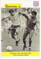 Grenada  -  Football World Cup 1994 -  WLODZIMIERZ  (P)  -  LABO KHALIFA (MOR)   -   1v  MS  -   Mint/Neuf/MNH - 1994 – États-Unis