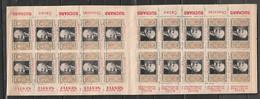 Carnet Timbres Antituberculeux 1934 Portrait De Calmette, Bandelettes Publicitaires Suchard Et Nestlé - Tuberkulose-Serien