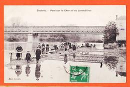 X36053 ♥️ Peu Commun CHABRIS 36-Indre Pont Sur Le CHER Et LAVANDIERES à BONNETAT Cité Chevalier Orléans Edition CORSET - Sonstige Gemeinden