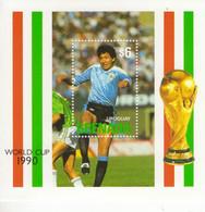 Grenada  -  Football World Cup 1990 -   URUGUAY   -   1v  MS  -   Mint/Neuf/MNH - 1990 – Italie