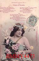 CPA - Les Chansons De Maurice Boukay En 1904 - Fleurs Et Pensées + Légende De La Chanson - Edit. Henri Gregh Paris - Women