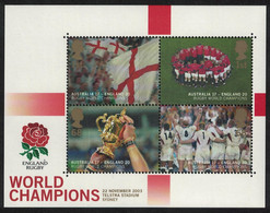 Great Britain Victory In Rugby World Cup Championship MS 2003 MNH SG#MS2416 - Unused Stamps