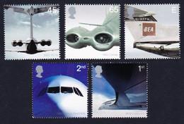 Great Britain Passenger Jet Aviation 5v 2002 MNH SG#2284-2288 SC#2048-2052 - Nuovi