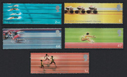 Great Britain Swimming Cycling Athletics Sports 5v 2002 MNH SG#2299-2303 SC#2059-2063 - Nuovi