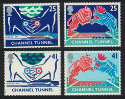 Great Britain Opening Of Channel Tunnel 4v 1994 MNH SG#1820-1823 SC#1559a+1561a - Nuovi