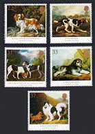 Great Britain Dogs Paintings By George Stubbs 5v 1991 MNH SG#1531-1535 SC#1345-1349 - Nuovi
