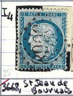 FRANCE Classique: Le Y&T 60C, Obl. GC 3668 (St Jean-de-Bournay, Ind.4), ISERE - 1871-1875 Ceres