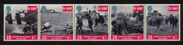 Great Britain Tanks Artillery 50th Anniversary Of D-Day Strip Of 5v 1994 MNH SG#1824-1828 - Nuovi