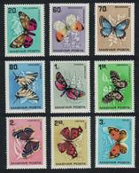 Hungary Butterflies And Moths 9v 1966 MNH SG#2150-2158 MI#2201-22090A CV£9.70 - Ongebruikt