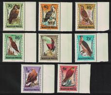 Hungary Owl Falcon Osprey Kestrel Eagle Birds Of Prey 8v Margins 1962 MNH SG#1851-1858 MI#1881A-1888A CV£10.10 - Ongebruikt
