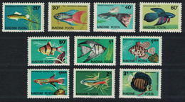 Hungary Aquarium Ornamental Fishes 10v 1962 MNH SG#1796-1805 CV£6.25 - Ongebruikt