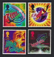 Great Britain Science Fiction Novels By H G Wells 4v 1995 MNH SG#1878-1881 SC#1616-1619 - Nuovi