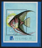 Kampuchea Tropical Fish MS 1988 CTO SG#MS914 - Kampuchea