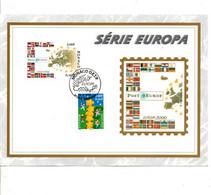MONACO DOCUMENT FDC 2000 SERIE EUROPA - FDC