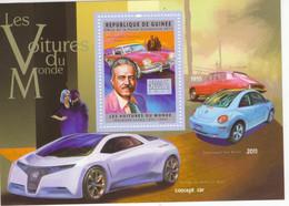 Rép. Guinée 2011 - Les Voitures Du Monde - Citroen DS-VW Beetle-Studebaker  -   1v  Miniature Sheet   -   Mint/Neuf/MNH - Coches