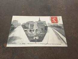 Carte Postale Bécon N 13 Rue Cronstad Et Du 22 Septembre Prises Du Pont Des Couronnes - Autres Communes