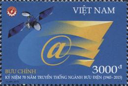 Vietnam 2491 Poste, Télécoms, Satellite, @ - Post