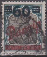 Danzig 1921. Freimarke Mit Aufdruck, 60 A. 75, Mi 72 Gestempelt - Coordination Sectors