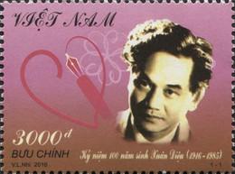 Vietnam 2505 Xuan Dieu, Poète, Coeur - Writers