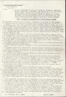 Tract O.A.S. Organisation Armée Secrète Oran Texte Allocution Général Edmond Jouhaud Anti De Gaulle Guerre D'Algérie - Historical Documents