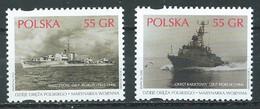 Pologne YT N°3521/3522 Navires De Guerre Neuf ** - Ungebraucht