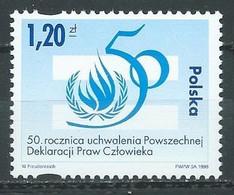 Pologne YT N°3516 Déclaration Universelle Des Droits De L'homme Neuf ** - Ungebraucht