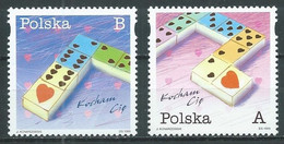 Pologne YT N°3523/3524 Timbres De Messages Dominos Neuf ** - Ungebraucht