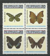 Philippines 2006 Mi 3802-3805 MNH  (LZS8 PLPvie3802-3805) - Butterflies