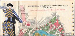 75 - PARIS - Plan Publicitaire Biscuits BRUN De L'exposition Coloniale Internationale De Paris - Toeristische Brochures