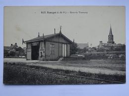 CPA (35) Ille Et Vilaine - Romagné - Gare Du Tramway - Altri Comuni