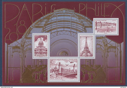 Bloc F5222 Paris Philex 2018 Tour Eiffel 5223 Pont Alexandre III 5225 Grand Trianon Versailles 5224 Les Invalides 5222 - Neufs