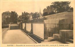 44 - NANTES - ENSEMBLE DU MONUMENT DU SOUVENIR 1914-1918 - OEUVRE DE C. ROBIDA ARCH. - Nantes