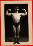 27386 Athlete Athlete Bodybuilder Man Muscles Naked Wrestler Signed - Worstelen