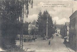 75. LUXEUIL-LES-BAINS . AVENUE DE LA GARE . CARTE TRES ANIMEE ECRITE AU VERSO LE 23 DU 6-1917 - Luxeuil Les Bains