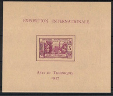 Sénégal - 1937 - Bloc Feuillet BF N°Yv. 1 - Exposition Internationale - Neuf Luxe ** / MNH / Postfrisch - Unused Stamps