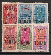 Tchad - 1926-27 - N°Yv. 47 à 52 - Série Complète - Neuf Luxe ** / MNH / Postfrisch - Ongebruikt