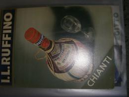 TARGA PUBBLICITARIA I.L RUFFINO CHIANTI 1939 - Plaques En Carton