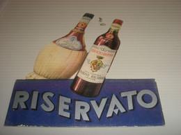 SEGNAPOSTO BROLIO ROSSO CASA VINICOLA BARONE RICASOLI FIRENZE - Plaques En Carton