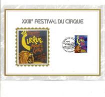 MONACO DOCUMENT FDC 1998 FESTIVAL DU CIRQUE - FDC