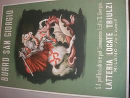TARGA PUBBLICITARIA BURRO SAN GIORGIO LATTERIA LOCATE TRIULZI - Plaques En Carton