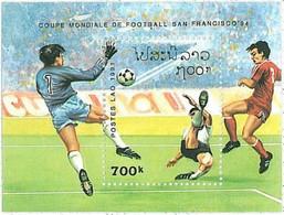 STAMPS  Souvenir Sheet     LAOS   1991 FOOTBALL  1994 World Cup   Yvert  BF #115 - 1994 – Estados Unidos