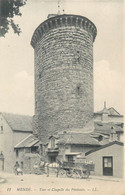 CPA 48 Lozère Mende Tour Et Chapelle Des Pénitents Attelage Coiffeur - Mende
