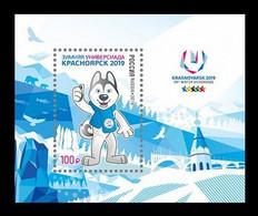 RUSSIE/RUSSIA/RUSSLAND/ROSJA 2019** MI.2670,,ZAG..2452,YVERT..(Bl.270) Winter Universiade In Krasnoyarsk MNH ** - Unused Stamps