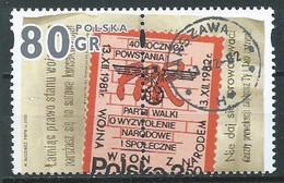 Pologne YT N°3645 Proclamation De La Loi Martiale (Paire Se-tenant) Neuf ** - Ungebraucht