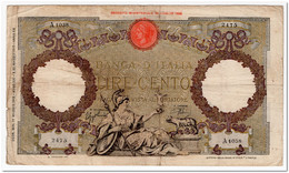 ITALY,100 LIRE,1943,P.60,CIRCULATED - 100 Lire