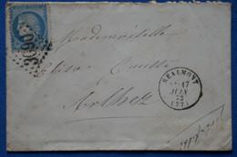 D2 FRANCE BELLE LETTRE 1873 REALMONT POUR ERLBETZ   + AFFRANCH. INTERESSANT - 1871-1875 Cérès