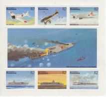 Dominica - WWII Aircraft - Mit.Zero-Aichi 99-Nak 97 + Zuikaku-Akagi-Ryuho Carriers -  6v Sheet  Neuf/Mint MNH - Avions