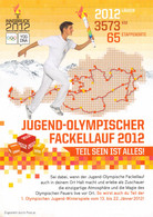 Austria Paper 2012 Youth Olympic Games Innsbruck - Innsbruck - Torch Relay Information (T21-8) - Inverno 2012: Innsbruck (Giochi Olimpici Giovanili)