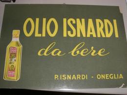 TARGA PUBBLICITARIA OLIO ISNARDI - Plaques En Carton